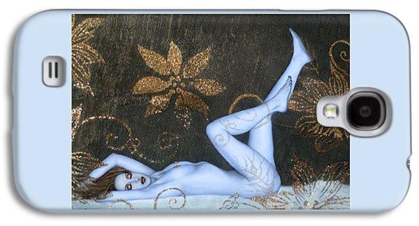 Dreamscape Digital Galaxy S4 Cases - Sea of Sensuality - Self Portrait Galaxy S4 Case by Jaeda DeWalt