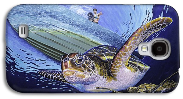 Girl Galaxy S4 Cases - Sea turtle family Galaxy S4 Case by Manuel Lopez