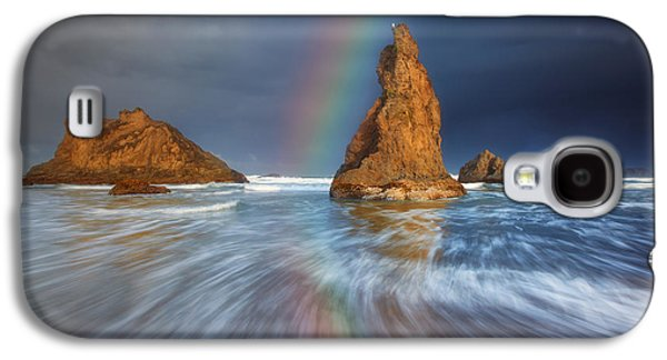 Landscape Acrylic Prints Galaxy S4 Cases - Seagull Storm Watch Galaxy S4 Case by Darren  White