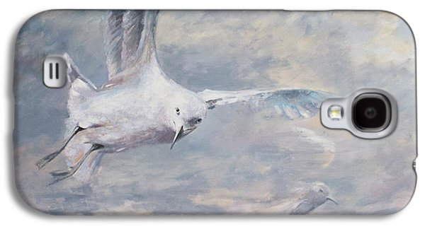 Nature Abstracts Galaxy S4 Cases - Seagull Galaxy S4 Case by Vali Irina Ciobanu
