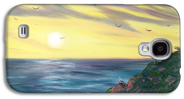Half Moon Bay Galaxy S4 Cases - Seagulls at Sunset Galaxy S4 Case by Laura Iverson
