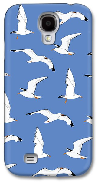 Seagulls Gathering At The Cricket Galaxy S4 Case by Elizabeth Tuck