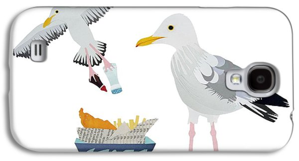 Vinegar Galaxy S4 Cases - Seagulls Galaxy S4 Case by Isobel Barber