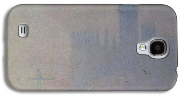 Seagulls Over The Houses Of Parliament Galaxy S4 Case by Claude Monet