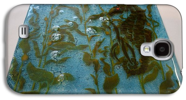 Forest Glass Art Galaxy S4 Cases - Seahorse Panel Galaxy S4 Case by Rosalind Duffy