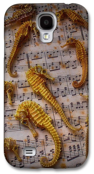 Seahorses On Sheet Music Galaxy S4 Case by Garry Gay
