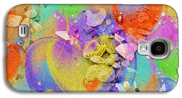 Nature Abstracts Galaxy S4 Cases - Seashell Stones and Hearts Galaxy S4 Case by Kathleen Struckle