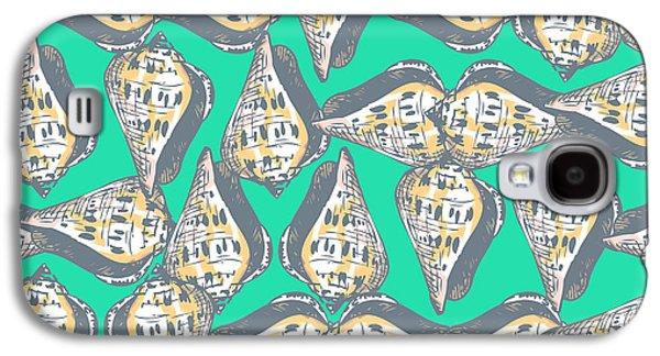 Seashell Digital Art Galaxy S4 Cases - Seashells pattern Galaxy S4 Case by Gaspar Avila