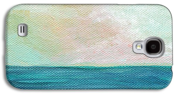 Seaside Galaxy S4 Cases - Seaside Sunset- expressionist landscape Galaxy S4 Case by Linda Woods