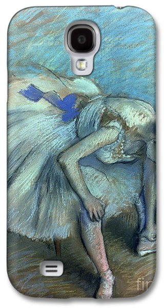 Chair Pastels Galaxy S4 Cases - Seated Dancer Galaxy S4 Case by Edgar Degas