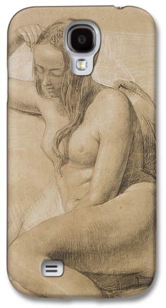 Chair Drawings Galaxy S4 Cases - Seated Female Nude Galaxy S4 Case by Sir John Everett Millais