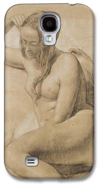 Seated Female Nude Galaxy S4 Case by Sir John Everett Millais