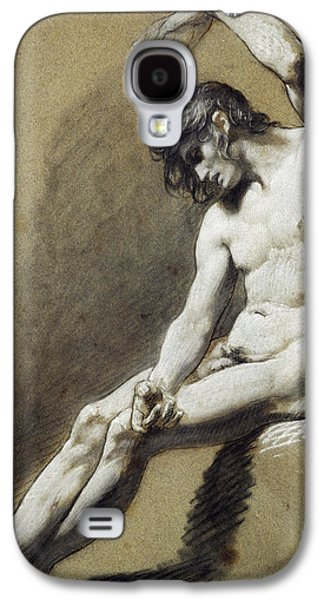 Nudes Pastels Galaxy S4 Cases - Seated Nude Galaxy S4 Case by Pierre Paul Prudhon