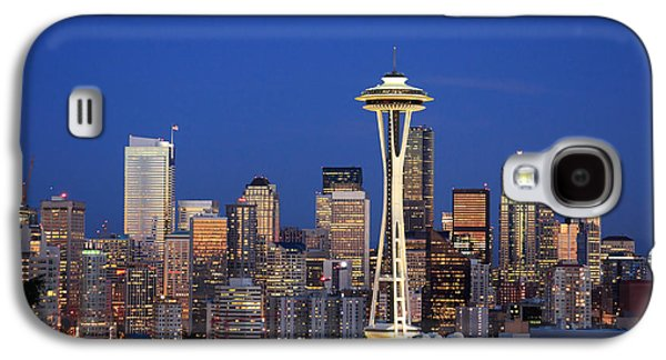North America Galaxy S4 Cases - Seattle at Dusk Galaxy S4 Case by Adam Romanowicz