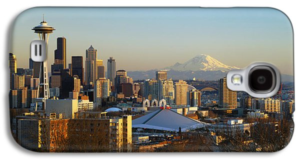 Printscapes - Galaxy S4 Cases - Seattle Cityscape Galaxy S4 Case by Greg Vaughn - Printscapes