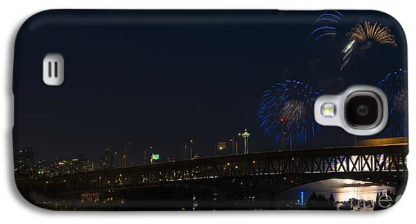 4th July Galaxy S4 Cases - Seattle Fireworks Galaxy S4 Case by Mike Dawson