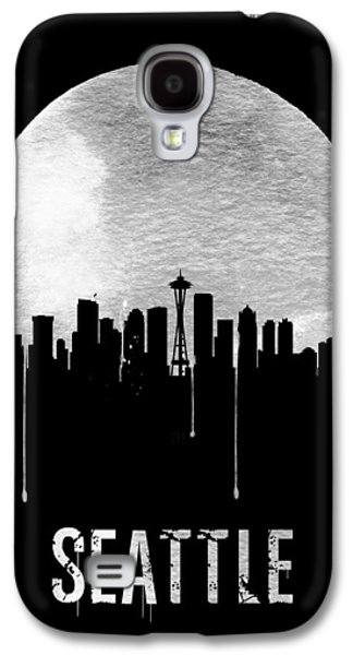 Seattle Skyline Black Galaxy S4 Case by Naxart Studio