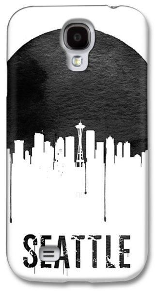 Seattle Skyline White Galaxy S4 Case by Naxart Studio