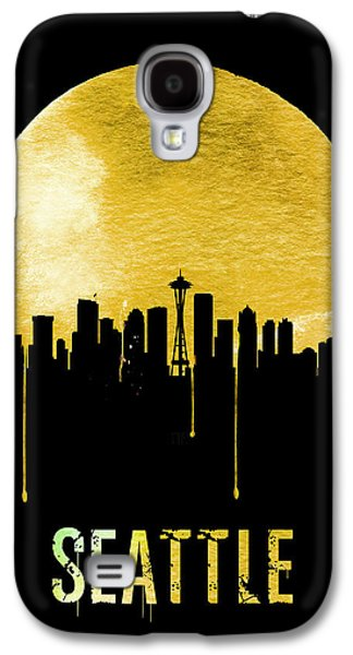 Seattle Skyline Yellow Galaxy S4 Case by Naxart Studio
