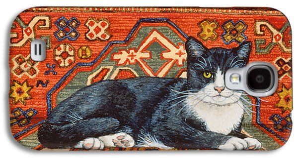 Persian Carpet Galaxy S4 Cases - Second Carpet Cat Patch Galaxy S4 Case by Ditz