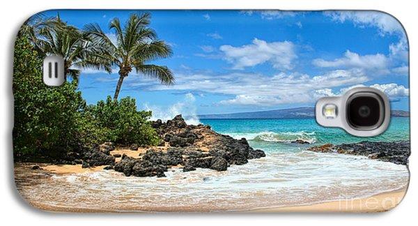 Beach Landscape Galaxy S4 Cases - Secret Beach Maui Galaxy S4 Case by Sean  James G
