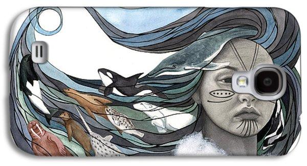 Goddess Mythology Paintings Galaxy S4 Cases - Sedna Galaxy S4 Case by Antony Galbraith