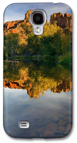 Cathedral Rock Galaxy S4 Cases - Sedona Sunset Galaxy S4 Case by Mike  Dawson