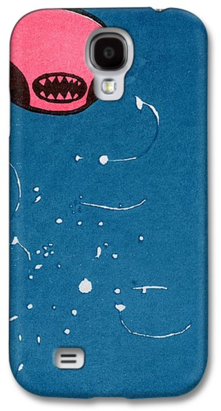 Stellar Paintings Galaxy S4 Cases - Seedpod Space Monster Galaxy S4 Case by Bella Larsson