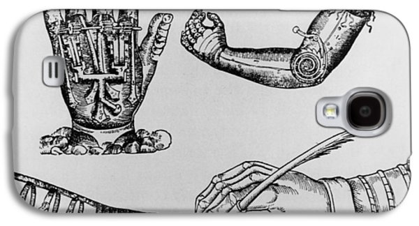 Historical Images Galaxy S4 Cases - Selection Of 16th Century Artificial Arms & Hands. Galaxy S4 Case by Dr Jeremy Burgess.