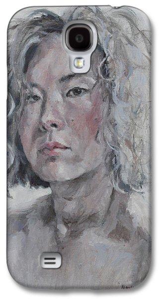 Self Portrait 1501 Galaxy S4 Case by Becky Kim
