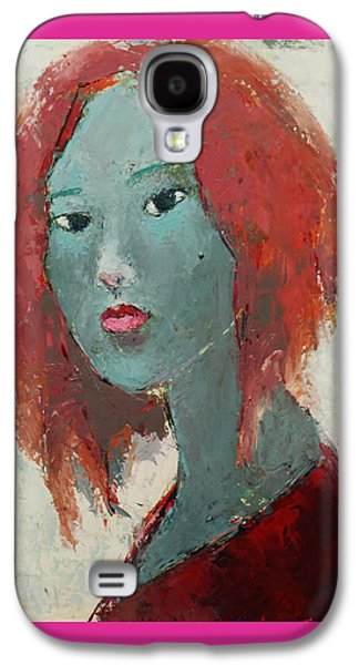 Becky Kim ist Paintings Galaxy S4 Cases - Self Portrait Series 1501 Galaxy S4 Case by Becky Kim