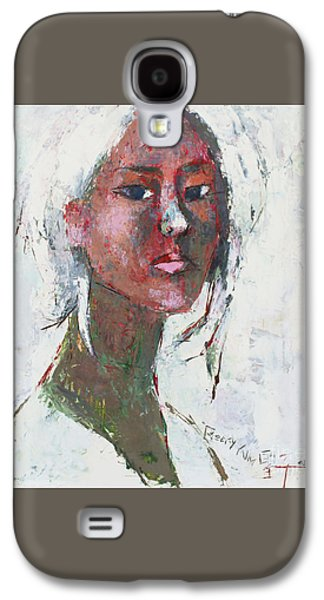 Becky Kim ist Paintings Galaxy S4 Cases - Self Portrait Series 1502 Galaxy S4 Case by Becky Kim