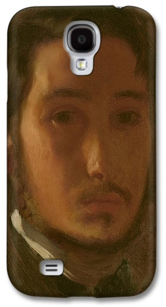 French Open Paintings Galaxy S4 Cases - Self-portrait With White Collar Galaxy S4 Case by Edgar Degas