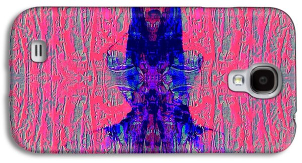 Abstract Digital Mixed Media Galaxy S4 Cases - Sen Say Abstract Mixed Media by Rich Ray Art Galaxy S4 Case by Rich  Ray Art