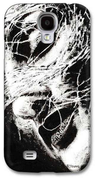 Faces Paintings Galaxy S4 Cases - Sensations Galaxy S4 Case by Richard Young