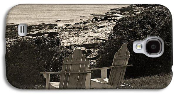 Chair Galaxy S4 Cases - Sepia Seaside Retreat Galaxy S4 Case by Lone  Dakota Photography