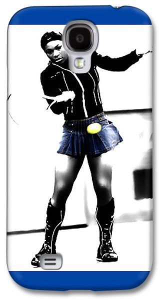 French Open Mixed Media Galaxy S4 Cases - Serena Williams 03b Galaxy S4 Case by Brian Reaves