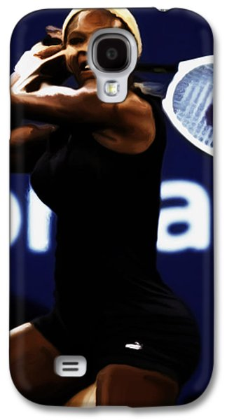 French Open Mixed Media Galaxy S4 Cases - Serena Williams Catsuit 03b Galaxy S4 Case by Brian Reaves