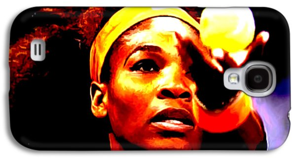 French Open Mixed Media Galaxy S4 Cases - Serena Williams First Round Galaxy S4 Case by Brian Reaves