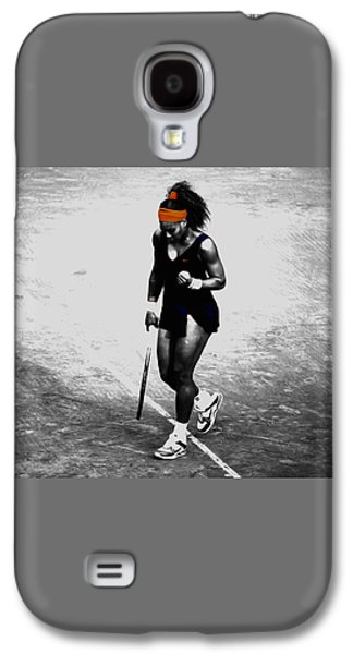Serena Williams Match Point 3a Galaxy S4 Case by Brian Reaves