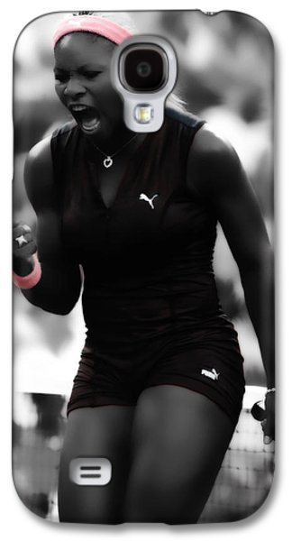 Serena Williams On Fire Galaxy S4 Case by Brian Reaves