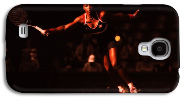 Slam Galaxy S4 Cases - Serena Williams Passion Galaxy S4 Case by Brian Reaves