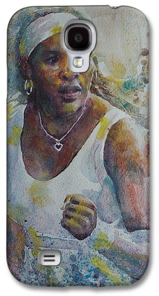 Serena Williams - Portrait 5 Galaxy S4 Case by Baresh Kebar - Kibar