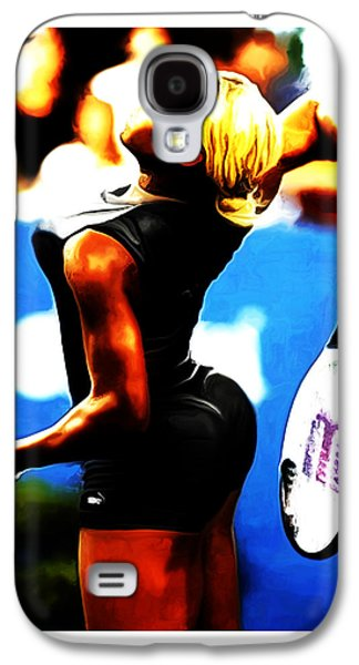French Open Mixed Media Galaxy S4 Cases - Serena Williams Work of Art Galaxy S4 Case by Brian Reaves