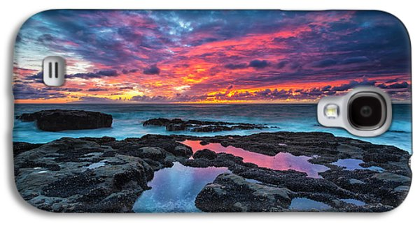 Beach Landscape Galaxy S4 Cases - Serene Sunset Galaxy S4 Case by Robert Bynum