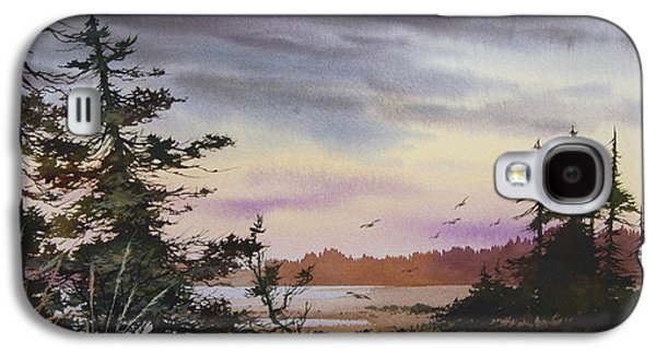 Wilderness Paintings Galaxy S4 Cases - Serene Wilderness Galaxy S4 Case by James Williamson