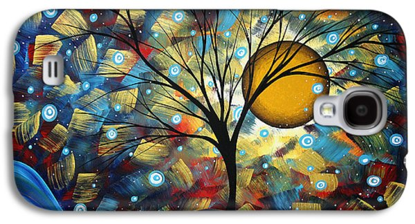 Colorful Abstract Galaxy S4 Cases - Serenity Falls by MADART Galaxy S4 Case by Megan Duncanson
