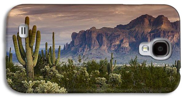 Landscapes Photographs Galaxy S4 Cases - Serenity of the Sonoran  Galaxy S4 Case by Saija  Lehtonen
