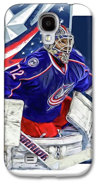 Sergei Bobrovsky Columbus Blue Jackets Galaxy S4 Case by Joe Hamilton