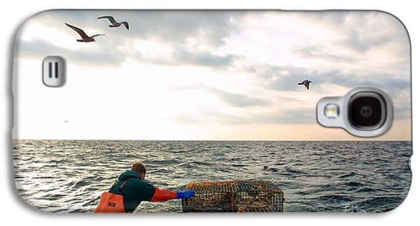 Chatham Galaxy S4 Cases - Setting lobster traps in Chatham on Cape Cod Galaxy S4 Case by Matt Suess